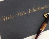 Custom Calligraphy for Julz