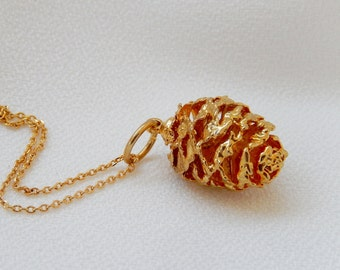 Real Pinecone Necklace, Pinecone Pendant, Nature Necklace, Gift for her