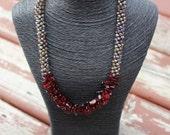 Glam Girl Crystal Necklace / Kumihimo Necklace / Feng Shui Jewelry / Chakra / Reiki Energy