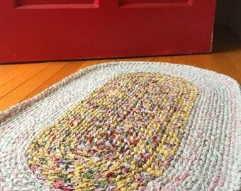 HEIRLOOM Oval Rug - yellow, pink