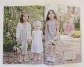 Girls Ruffle front dress - tunic - jumper - white