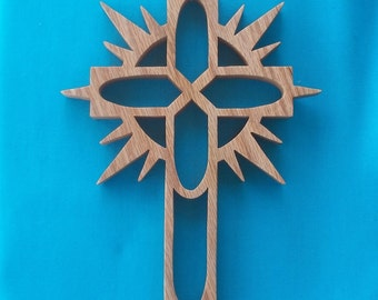 Wooden Scroll Saw Wall Cross C20