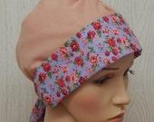 Chemo Head Wear, Cotton Head Scarf, Cancer Headscarf, Hair Loss Head Covering, Summer Hair Bonnet, Cotton Chemotherapy Caps, Alopecia Scarf