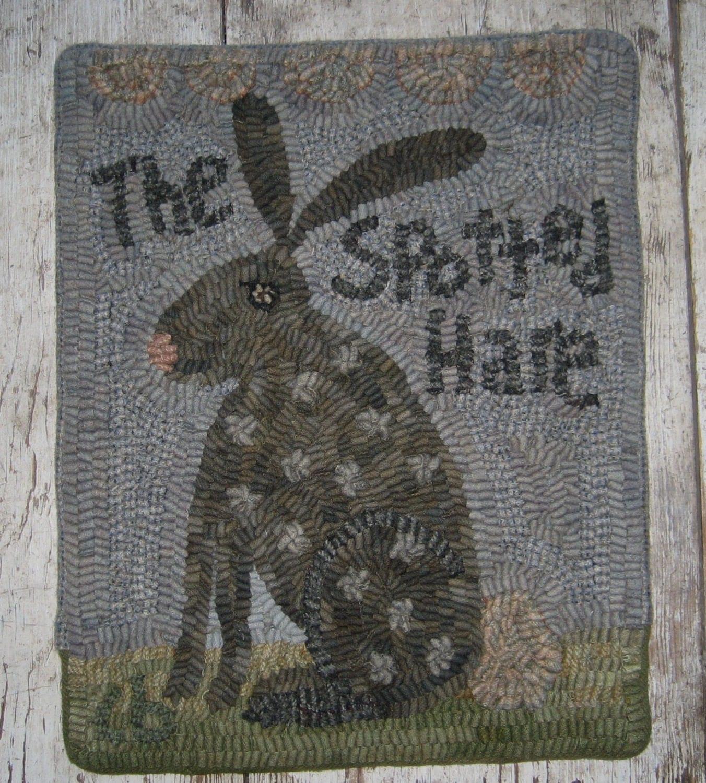 Primitive Rug Hooking PatternSpotted Hare