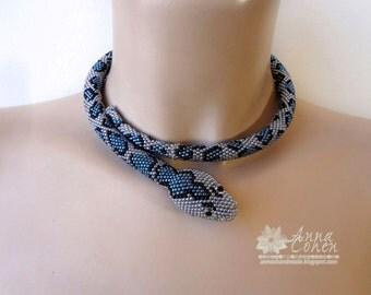 Blunthead blue tree snake OOAK, FREE Shipping