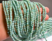 Larimar substitute - 4mm - 98 beads - full strand - A quality - RFG471