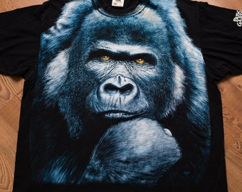 Huge Gorilla Busch Gardens T-Shirt, Extinction Is Forever, Vintage 90s