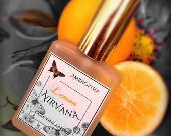 Natural Cologne LEMON NIRVANA with Meyer Lemon Blossom extract, tuberose, neroli, honey, lemon peel, ambrette seed