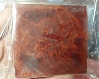 SALE! Peppermint Vanilla Vegetable Glycerin Soap with Exfoliating Loofah Slice Inside! 5oz bar