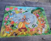Vintage Walt Disney Puzzle 48 pieces with Mickey, Goofy, Pluto, Donald Duck, Pinocchio, Dumbo for home or grandma's daycare preschool