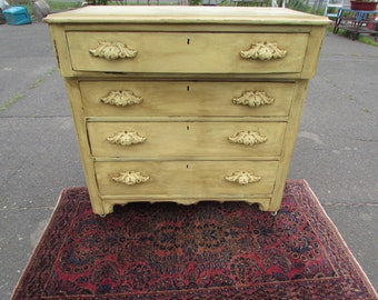 Antique cottage style dresser in Sunlight yellow
