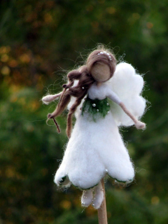 Christmas Tree Topper Needle Felted Waldorf Inspired Ornament