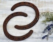 Two Old Horseshoes - down on the farm cast iron - Primitive Decor