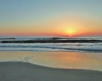 Original Photograph Sunrise Beach Archival Photo Coastal Photography Atlantic Ocean East Coast Florida Beach Home Decor Wall Decor Beach