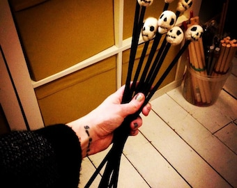 Goth knitting needles - unique gift