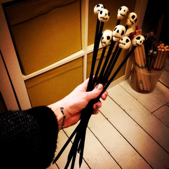 Knitting Needles Novelty : Goth knitting needles unique gift