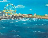The Santa Monica Pier  - California Beach & Ocean Acrylic Print