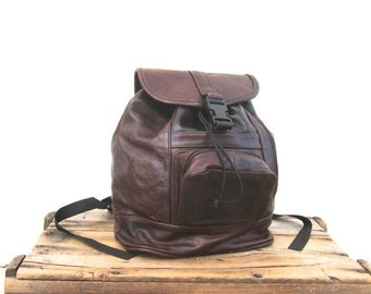 15% Off Out Of Town SALE Backpack Rucksack Rugged Brown Leather Bag