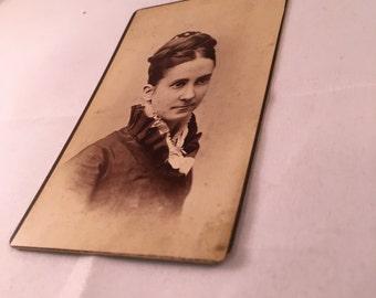 Antique Photo - Portrait or a Woman with Bun