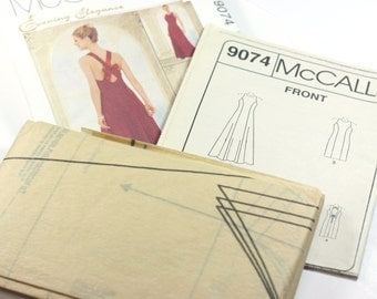 McCall's Evening Elegance / Size C - 10, 12, 14 / Evening gown pattern / bridesmaid pattern / dress pattern / unused