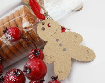 X24 Gingerbread Man Christmas tags Gift tags Baking Labels