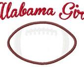 Alabama Bama Girl Football Machine Embroidery and Applique Design 5x7 INSTANT DOWNLOAD Joyful Stitches