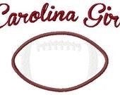 Carolina Girl Football Machine Embroidery and Applique Design 5x7 INSTANT DOWNLOAD Joyful Stitches