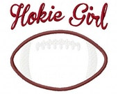 Hokie Virginia Tech Girl Football Machine Embroidery and Applique Design 5x7 INSTANT DOWNLOAD Joyful Stitches