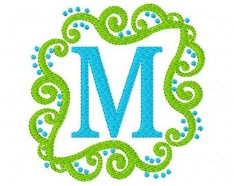 Monogram Machine Embroiery Design Set with Swirls, Machine Embroidery Monogram Font, machine embroidery designs, monogram // Joyful Stitches