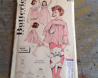 Butterick 9220 Sewing Pattern Girls Lingerie 10 Pieces Size 4