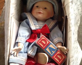 1988 Yolanda's Picture Perfect Babies Amanda Sailor Baby NIB Porcelain Doll