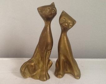 Vintage Brass Cats, Brass Cat
