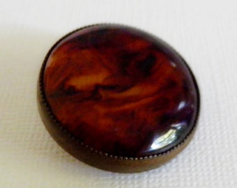 Bakelite Root Beer  in Brass Button