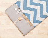 Surface Case, Microsoft Surface Pro 3 Cover, Surface sleeve, Surface Pro 4 Case, Surface book case - Blue chevron