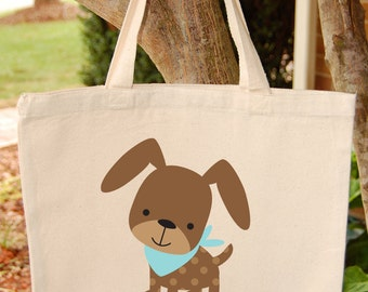 Puppy Tote Bag  Dog Canvas Tote Bag