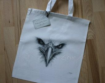 Bald Eagle Portrait Bird Feather Art Tote Bag Beautiful Fantasy Zindy Nielsen