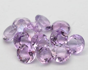 10 Pcs. Round 2mm.-3.5mm. Splendid Natural Genuine Gem Stone Purple Amethyst - Free shipping