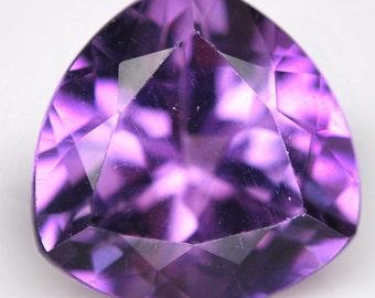 3.40 Ct. Excellent Natural Genuine Gem Trillion Purple Amethyst - Free shipping