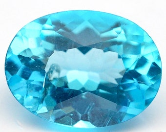 1.10 Ct. Gorgeous Natural Genuine Gem Oval Cut For 7.9*5.9mm Sky Blue Apatite - Free shipping