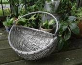 Vintage Metal Basket Woven Rare Find