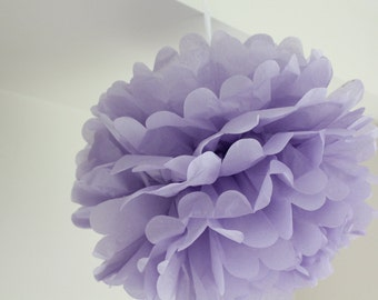 "16"" Lavender Liliac Purple Tissue Pom Pom - Party, Shower, Wedding decor puffs"