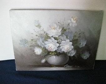 Robert Cox Oil on Canvas Original Painting Floral Still Life