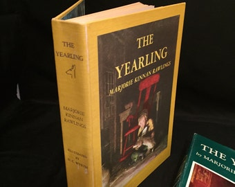 Classic Hardback Children's Book, The Yearling, Dust Cover,  Marjorie Rawling,  Illustrations NC Wyeth