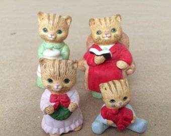 Vintage Set of Cats