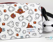 NEW big hero BAYMAX cossbody messenger bag B H 6 red or grey ready to ship