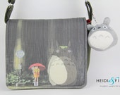 NEW my neighbor Totoro cossbody messenger bag olive green red ready to ship