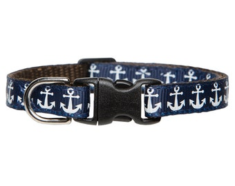 "Cat Collar - ""The Making Waves"" - Nautical Anchor Print"