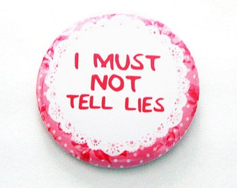 Harry Potter Buttons I Must Not Tell Lies Dolores Umbridge Geeky Pinback Pink Apparel Accessories
