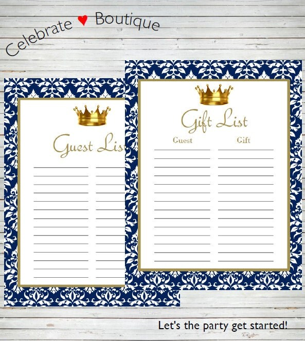 Princess guest book – Party Guest List