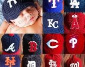 Baby MLB Baseball Cap, Baby Baseball Hats, Newborn Baseball Caps, Baby Baseball Photo Props, Major League Baseball Baby Hats, Baby Props